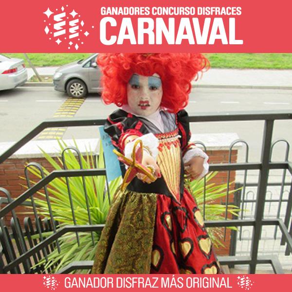 Segundo ganador concurso carnaval