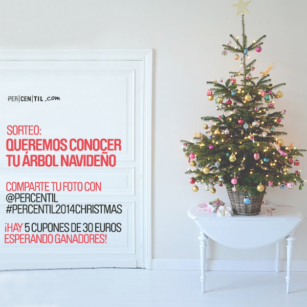 Comparte tu árbol Navideño y gana hasta 30€ PERCENTIL