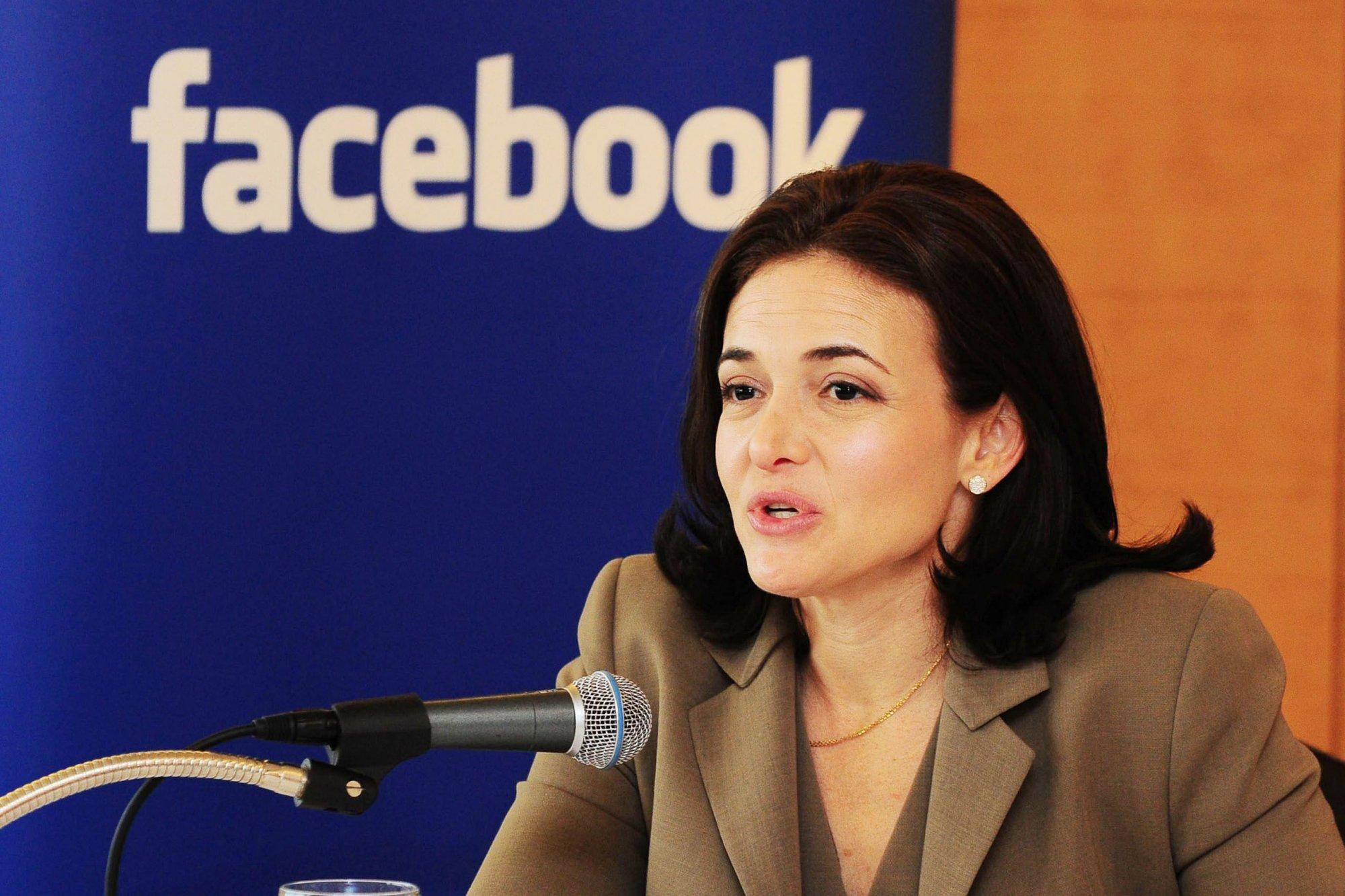 Sheryl Sandberg. Manager de operaciones de Facebook.